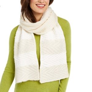 INC Chenille Striped Arrow Stitch Scarf